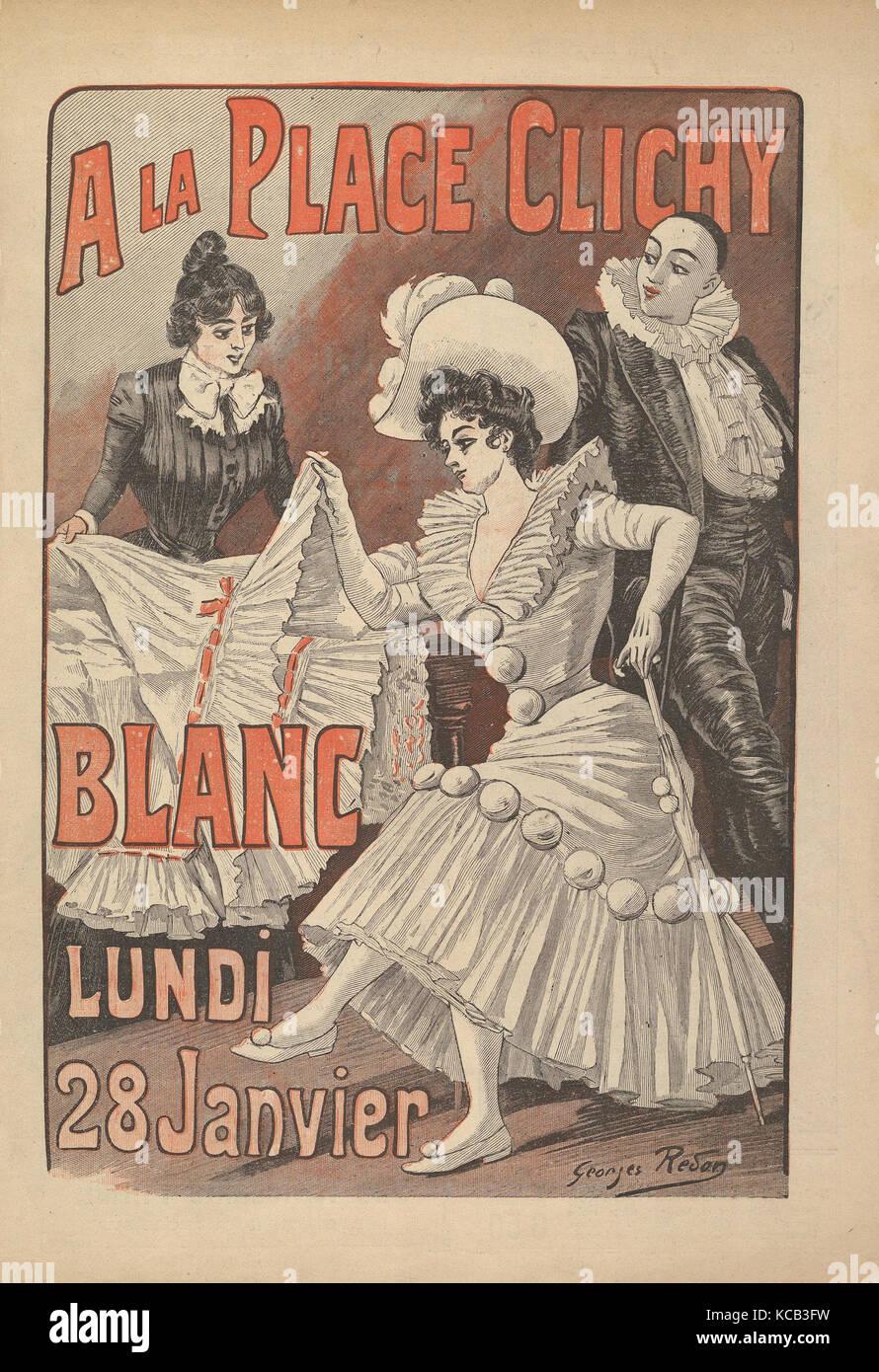 Los Grands Magasins de la Place Clichy, Exposition Annuelle de Blanc, Georges Redon, del siglo XIX. Foto de stock
