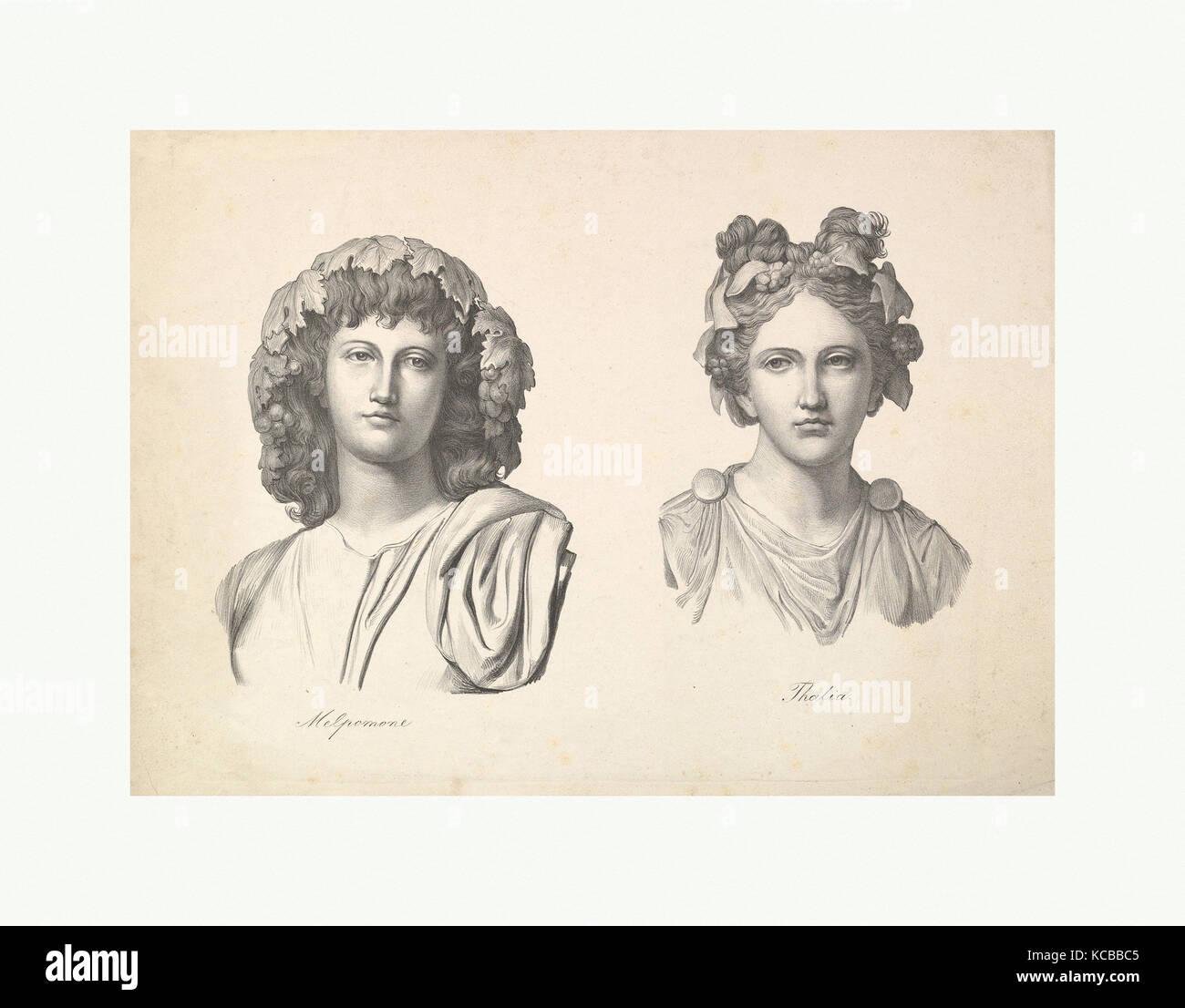 Melpomene y Thalia, Johann Gottfried Schadow, 1823-26 Foto de stock