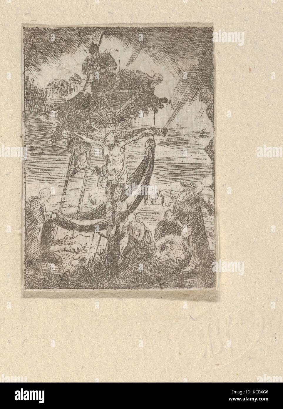 Intérieur de Paysans (campesinos interior), Rodolphe Bresdin, 1850 Foto de stock