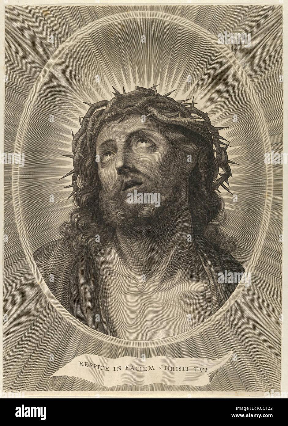 Dibujos y Grabados, impresión, cabeza de Cristo mirando hacia arriba ...