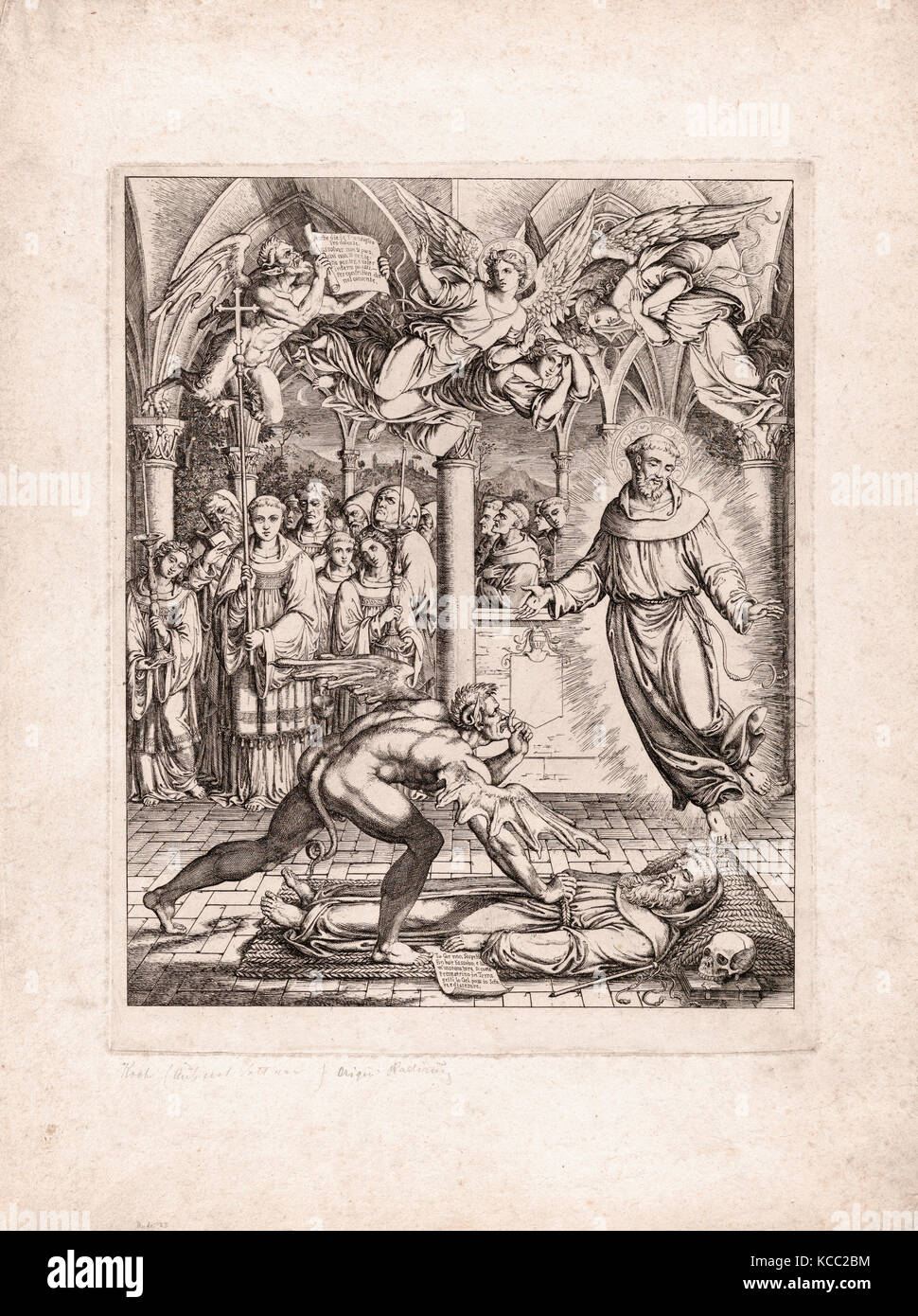 Dibujos y Grabados, impresión, batalla de Satanás con san Francisco ...