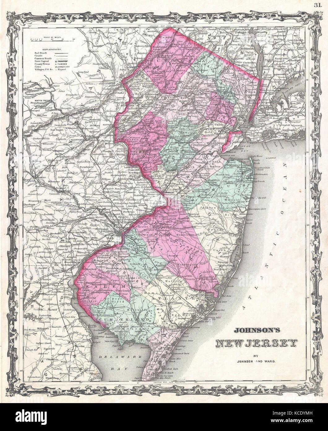 New Jersey Map Imágenes De Stock New Jersey Map Fotos De Stock - Mapa de new jersey