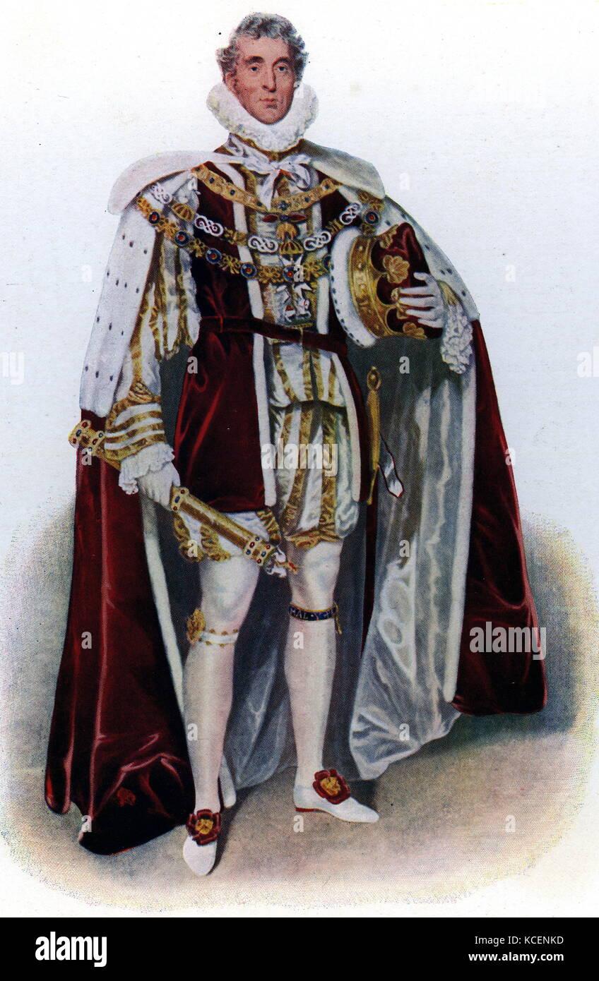 Retrato de Arthur Wellesley, primer duque de Wellington (1769-1852) un soldado angloirlandés, estadista y líder Foto de stock