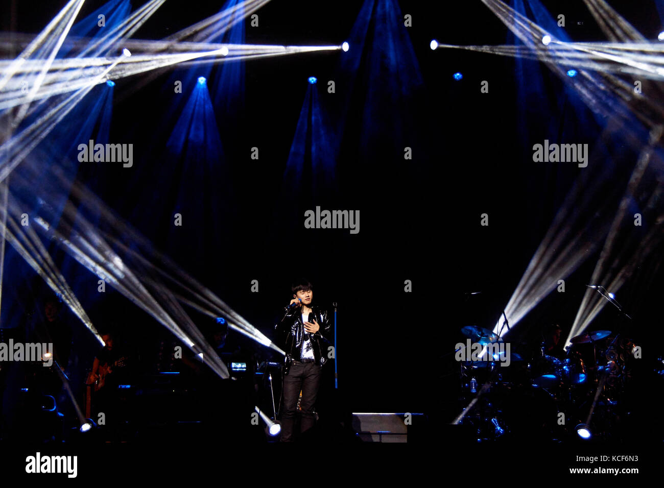 Londres, Reino Unido, 4 de octubre de 2017. zhang jie concierto en el o2 indigo como parte del sonido de mi corazón Foto de stock