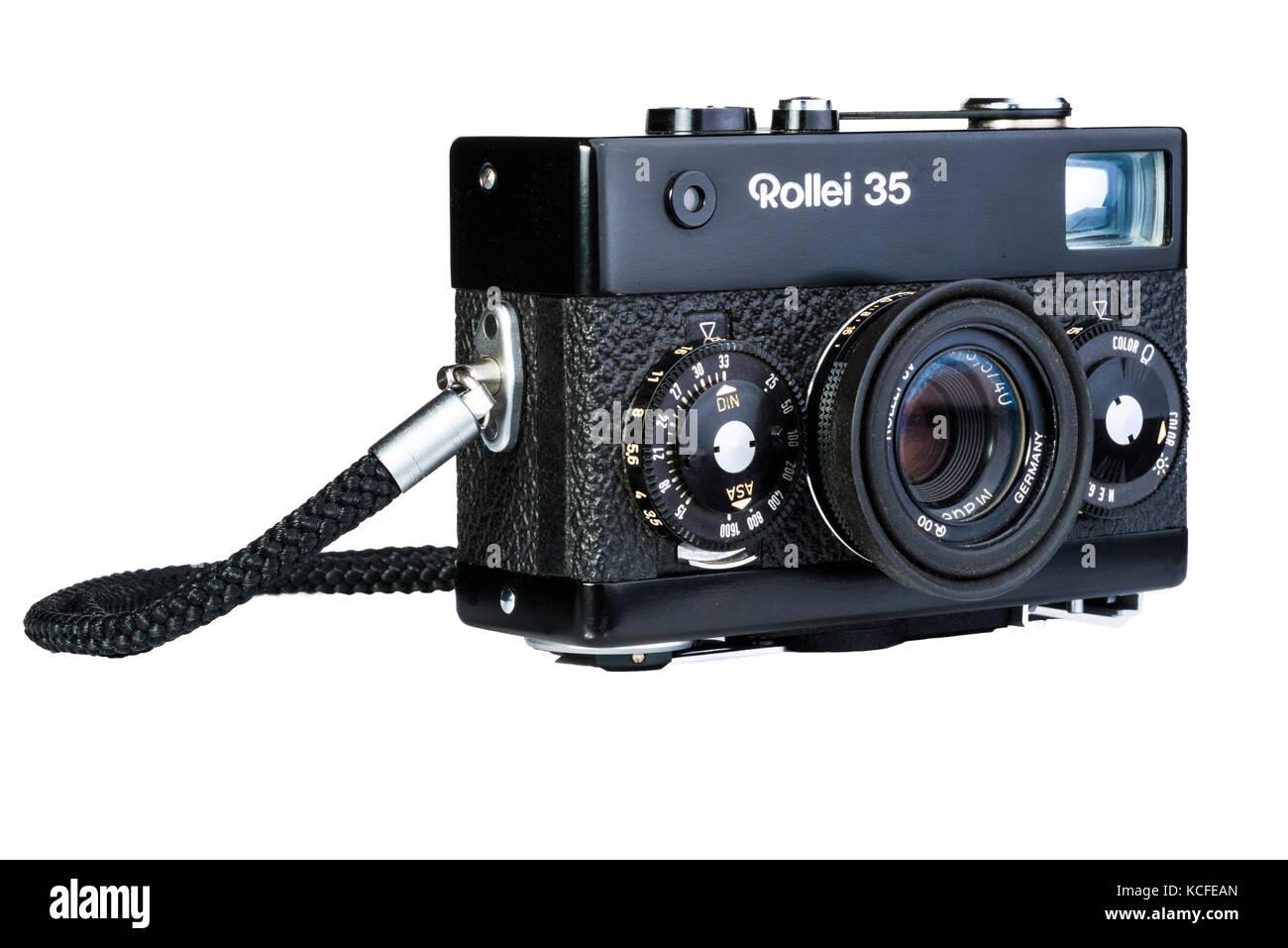 35 Rollei compacta cámara de cine. Vintage vieja nostalgia. Foto de stock