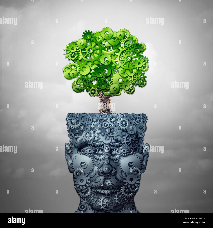 El crecimiento de la tecnología informática y la formación empresarial y el desarrollo como concepto Imagen De Stock