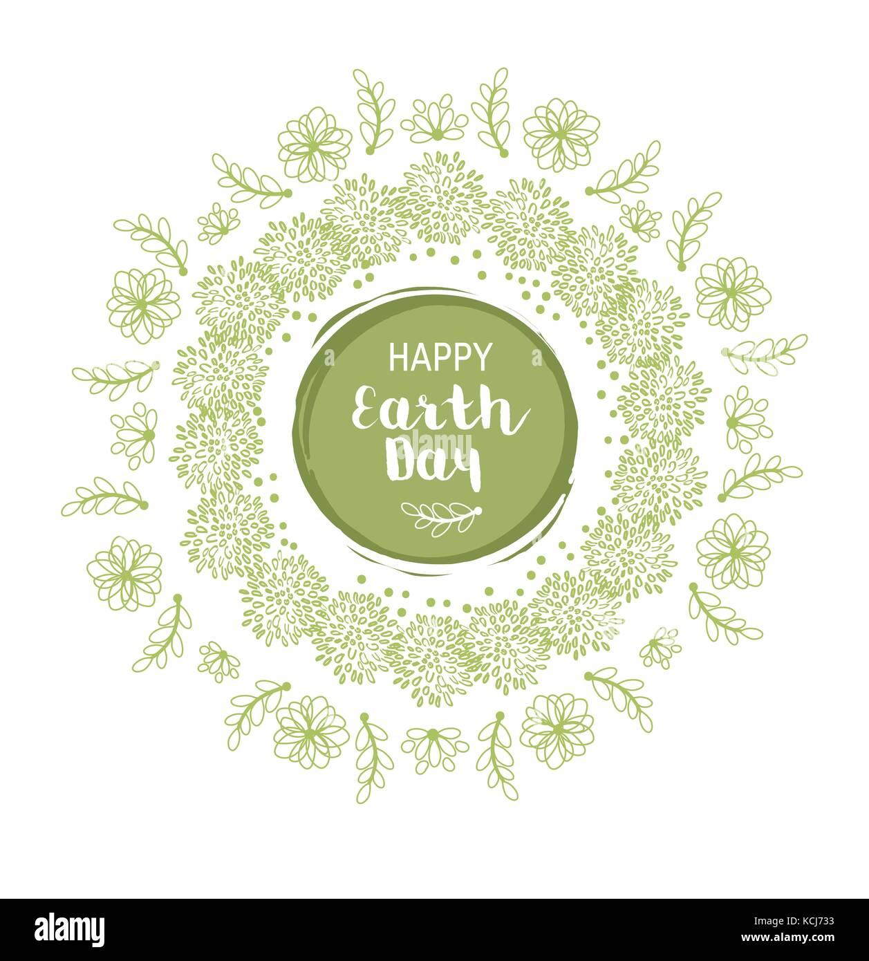 Feliz día de la tierra la ilustración Imagen De Stock