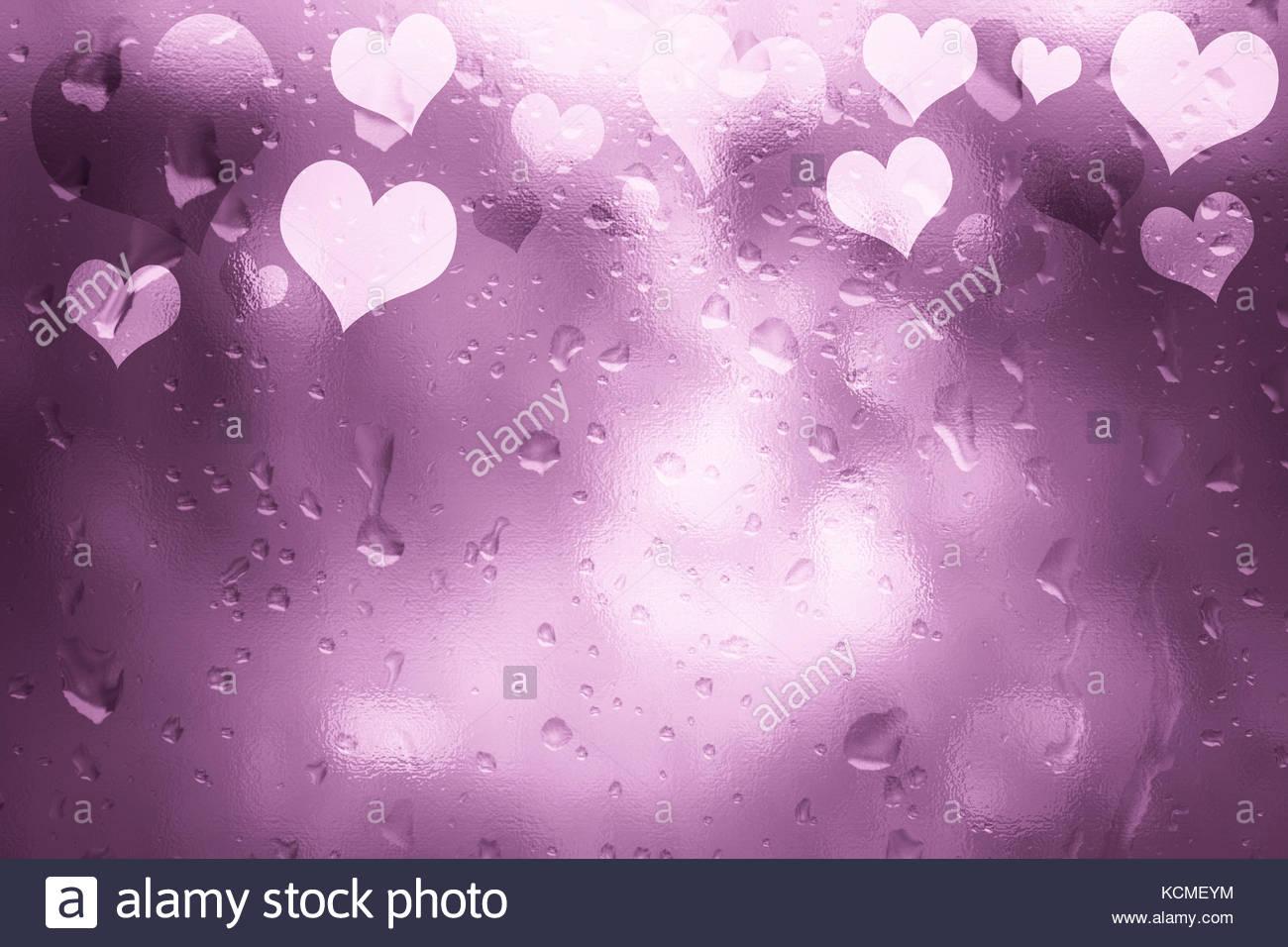 Textura de vidrio color rosa brillante el día de San Valentín ...