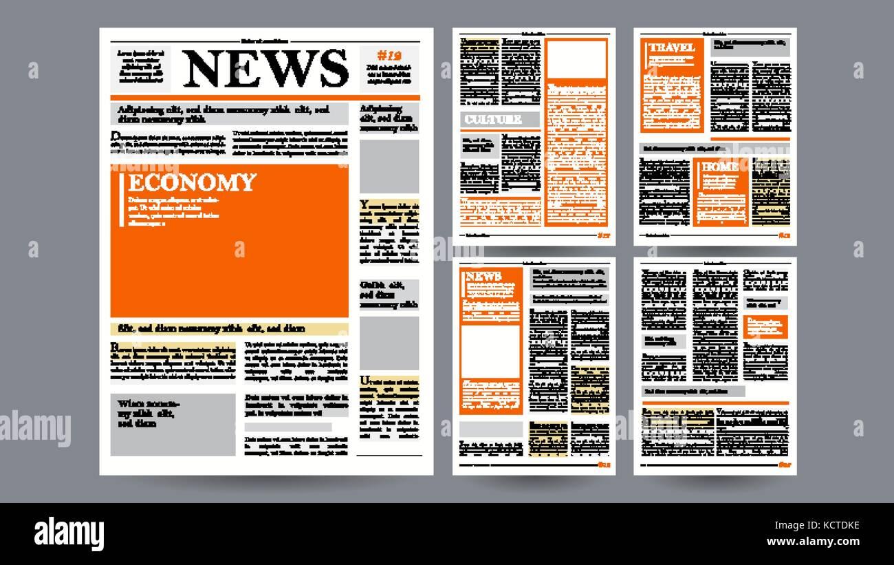 Plantilla de diseño de periódicos. Las imágenes vectoriales ...