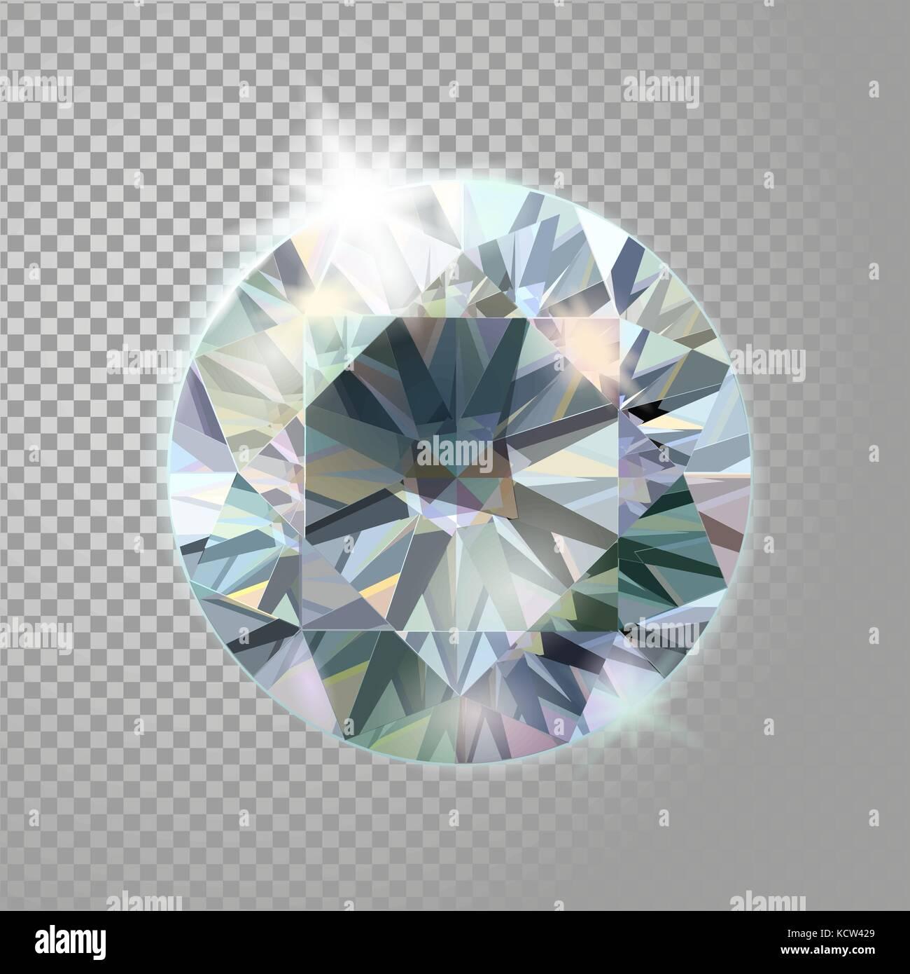 91a2d7e32432 Diamante de cristal brillante joya joyas piedras preciosas. realista 3D  detallada ilustración vectorial sobre fondo transparente