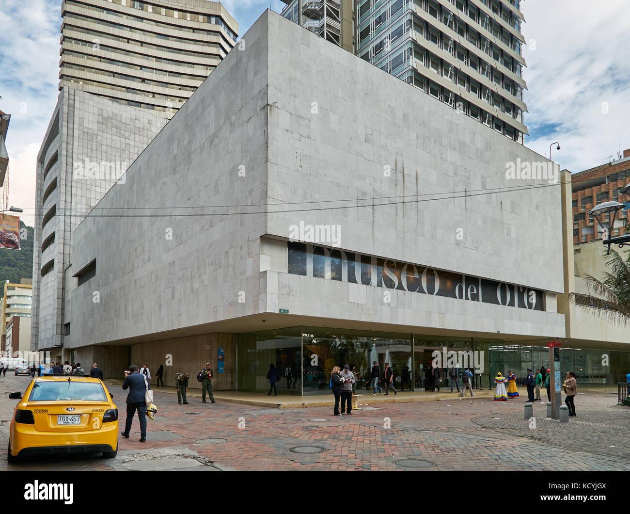 Vista exterior del Museo del Oro o el museo del oro, Bogotá, Colombia, Sur améric Imagen De Stock