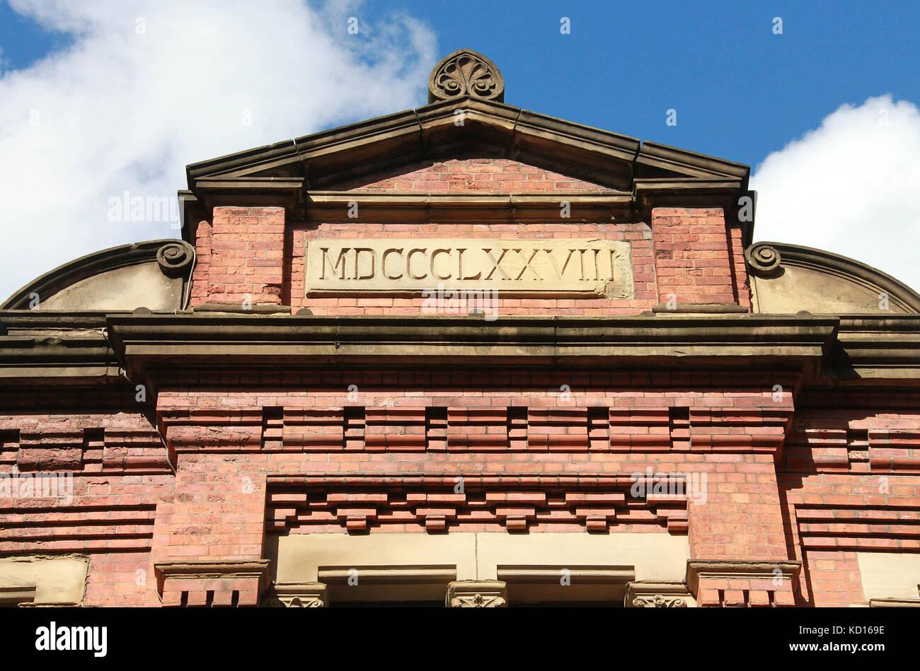 Data Em Numeros Romanos edificio que data de 1878 en números romanos en manchester
