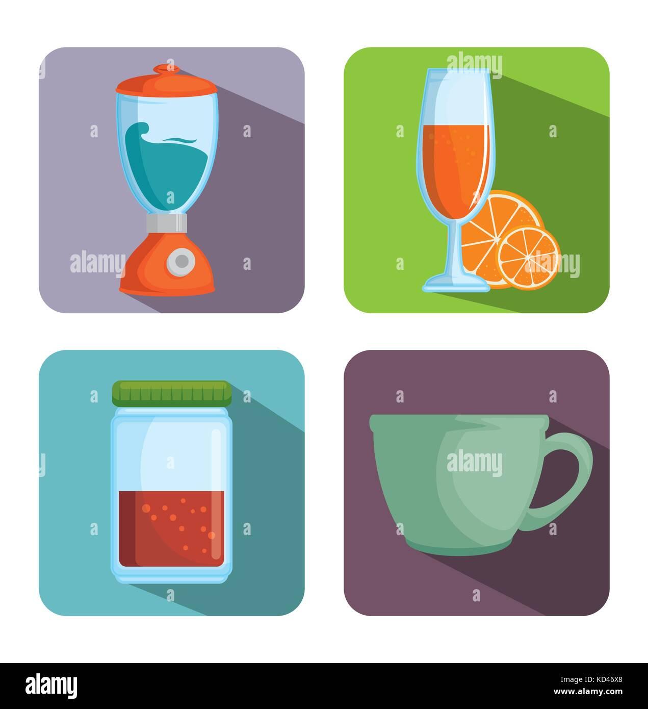 Utensilios de cocina ilustración vectorial diseño gráfico ...