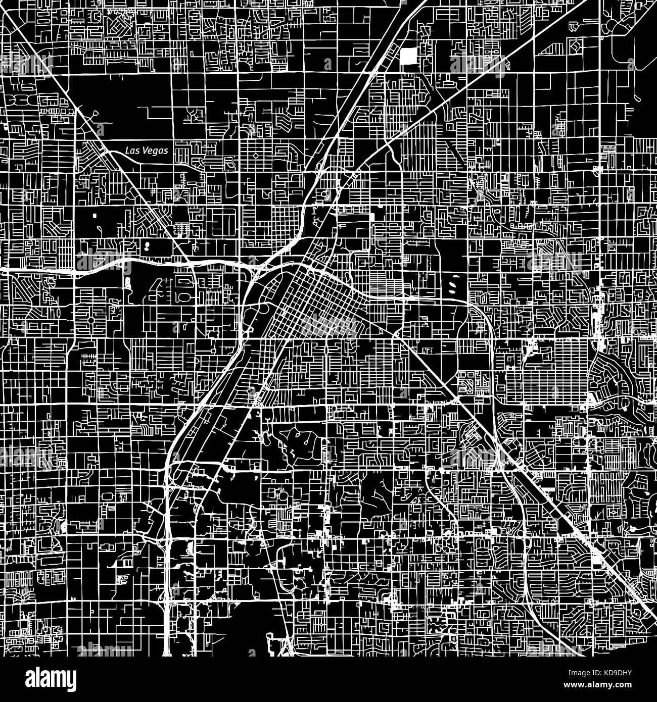 Las Vegas, Nevada. centro mapa vector. El nombre de la ciudad en una ...