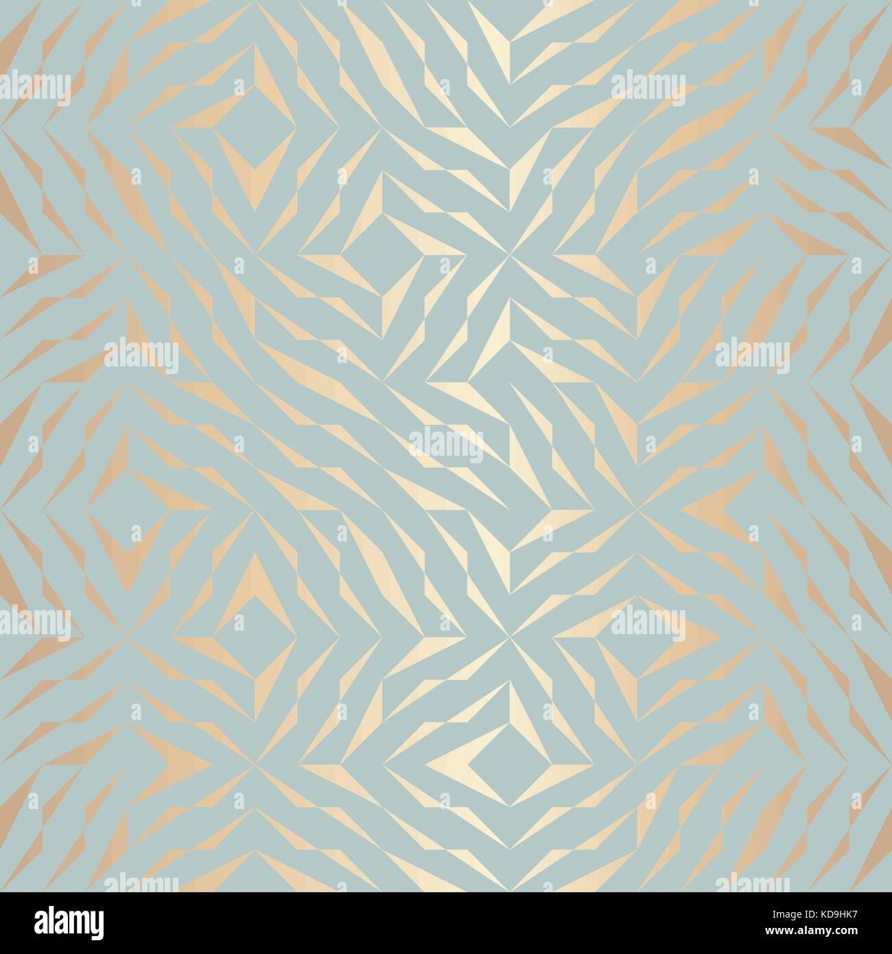 511a8a4b3e Seamless vector patrón geométrico elemento dorado fondo abstracto textura  de cobre verde azul. simple Imagen