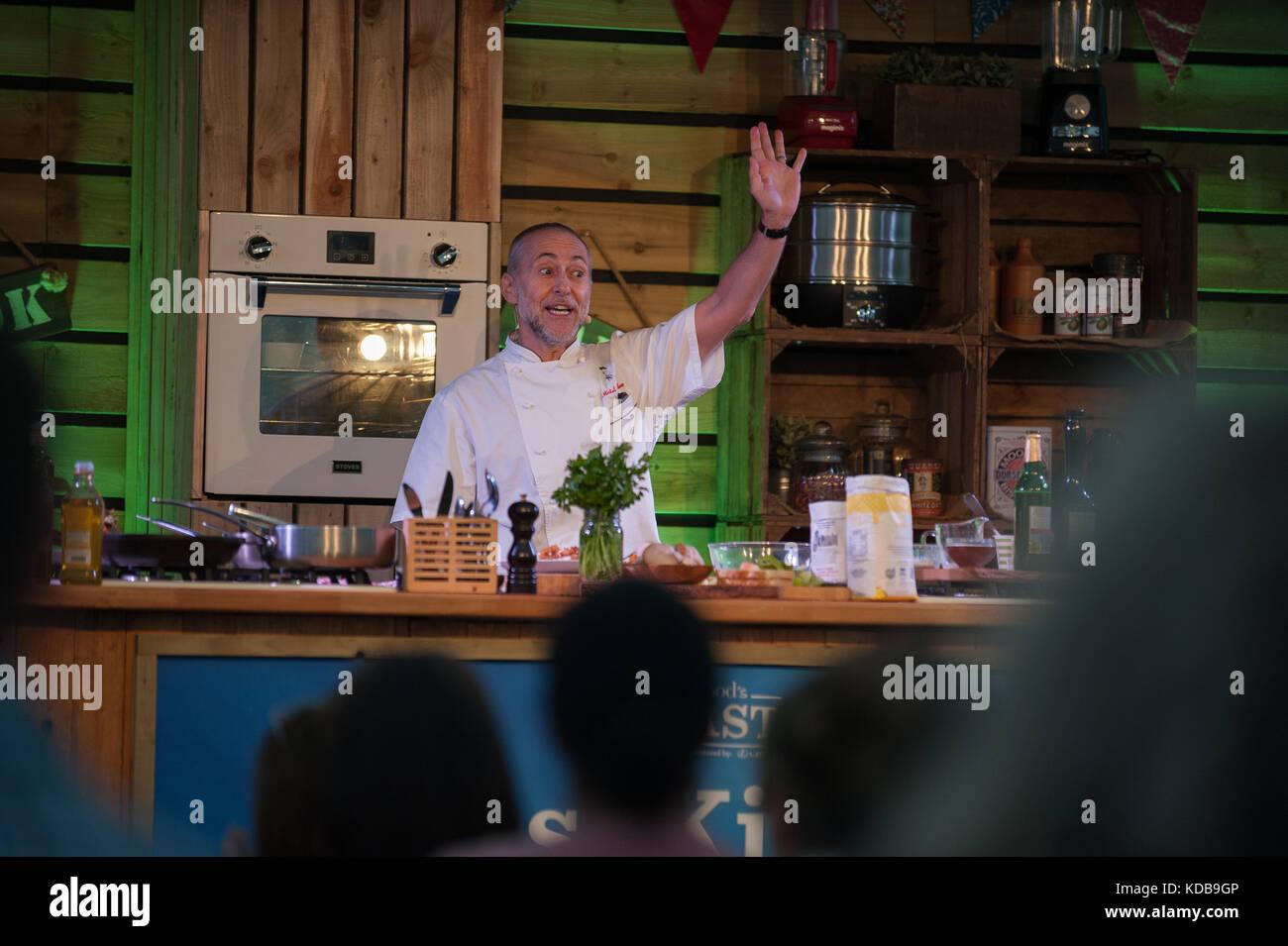 Michel Roux jr una demostración de cocina bbcgood Food Show 2017, la ...