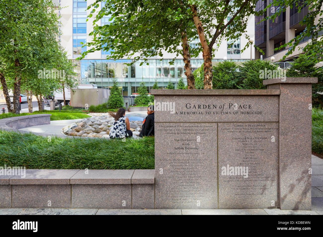 Jardín de la paz, Boston, Massachusetts, EE.UU. Imagen De Stock