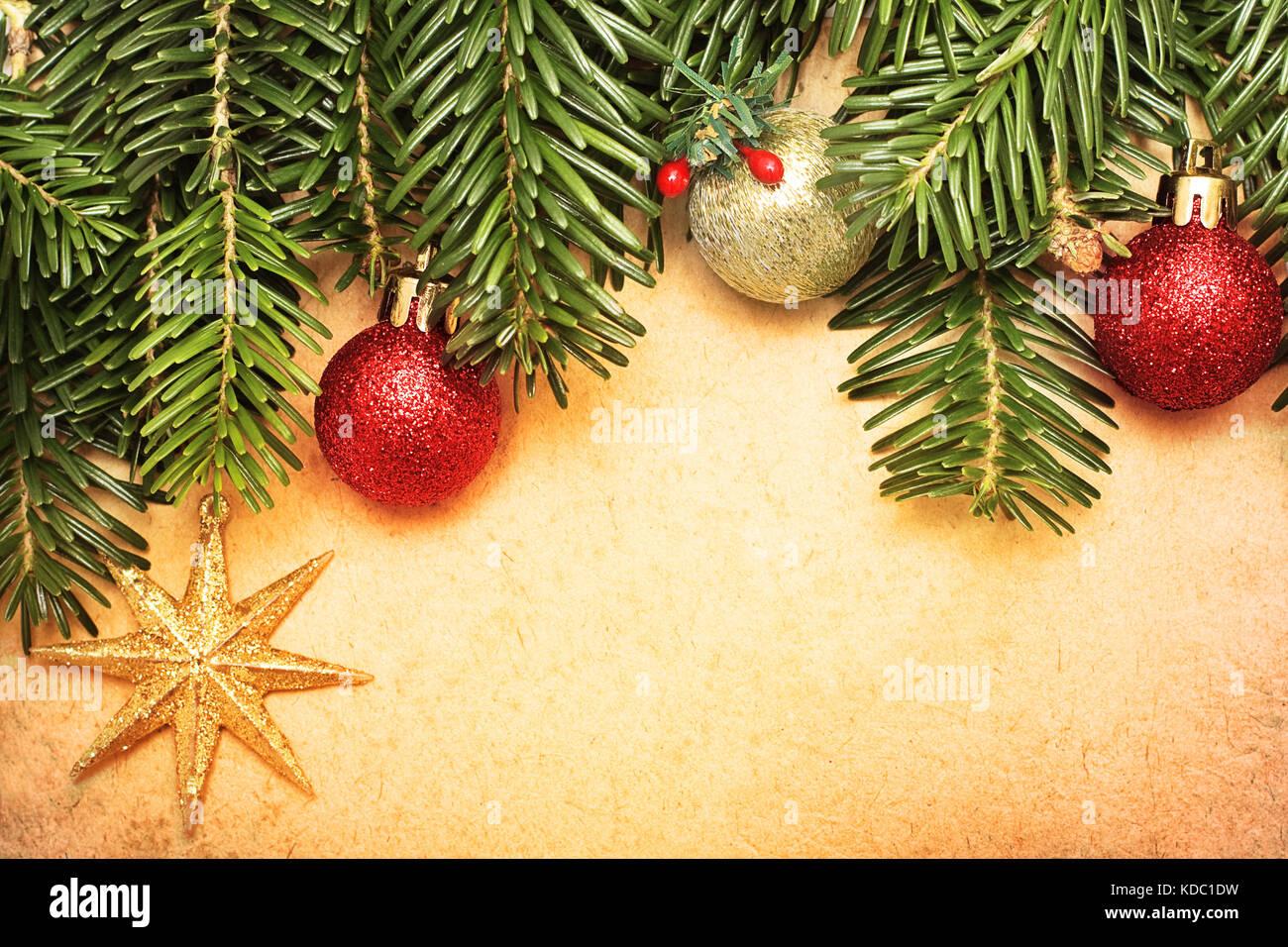 Tarjeta De Felicitación De Navidad Vintage Fondo De Navidad Foto