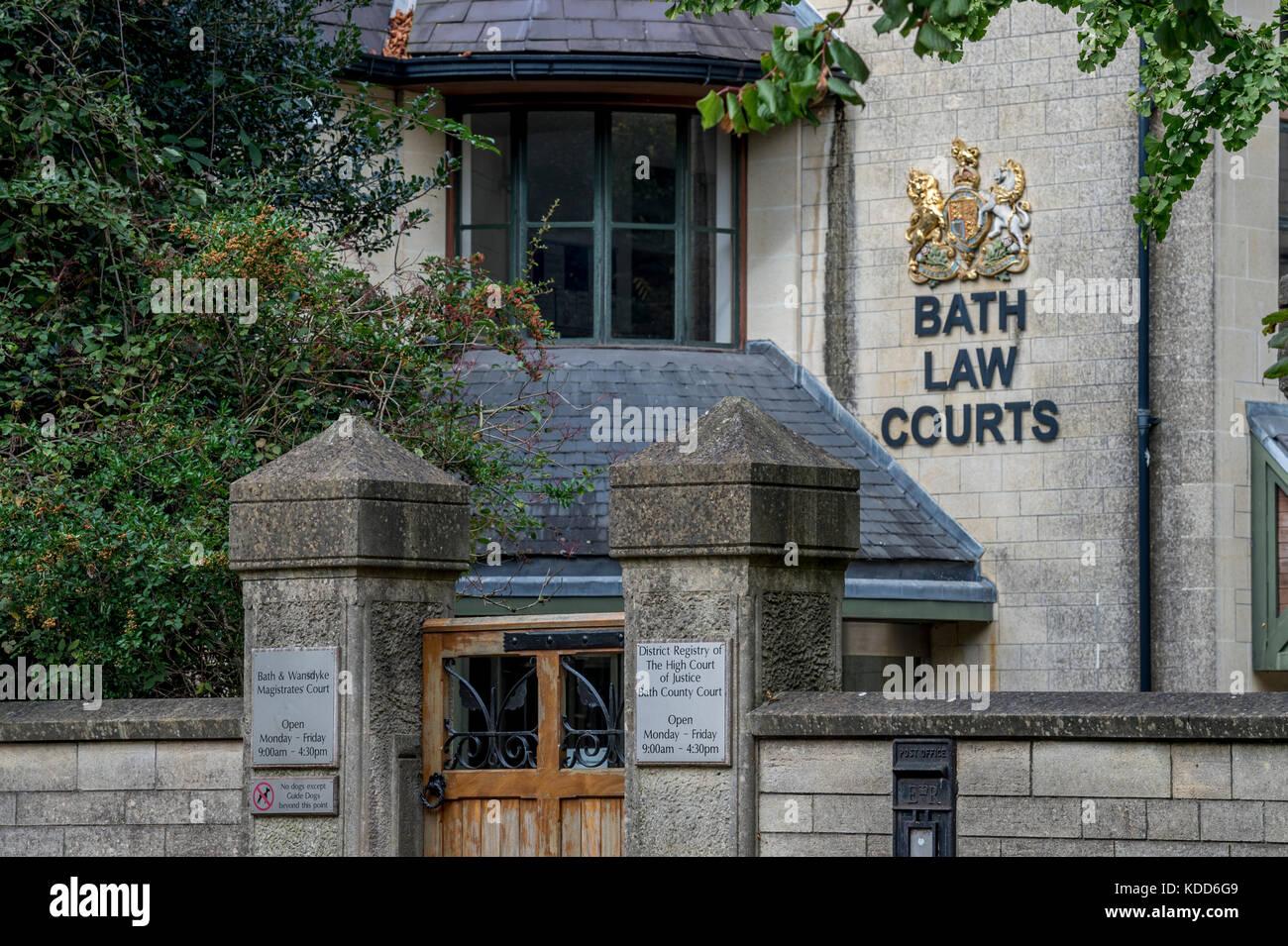 El exterior del tribunal de magistrados de baño Foto de stock