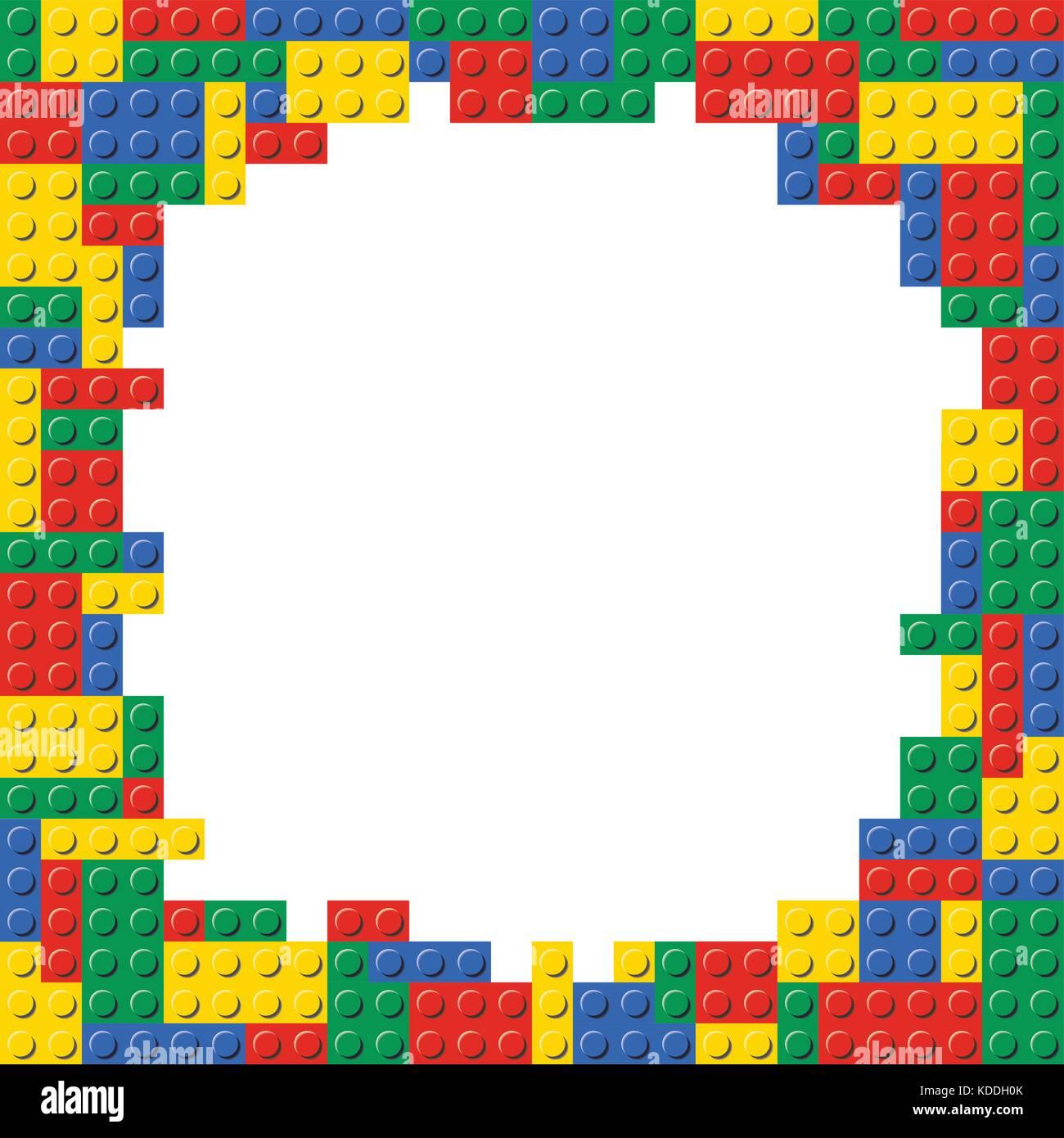 Bloques de construcción Lego brick marco de borde la trama de fondo ...