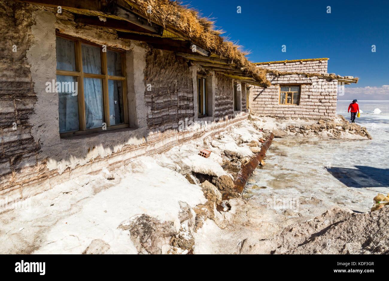 Casa de la sal en el Salar de Uyuni, Bolivia Imagen De Stock