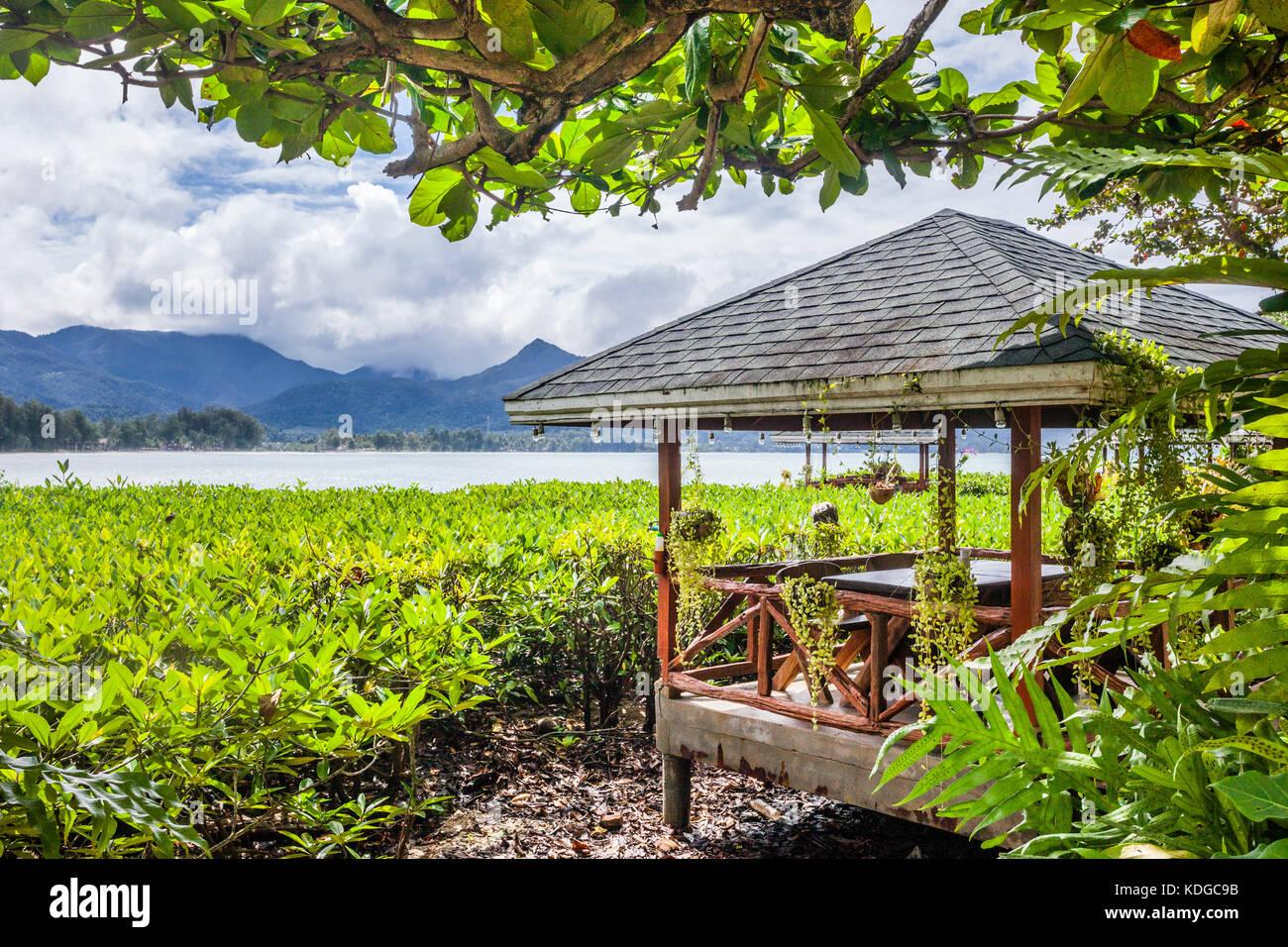 Tailandia, la provincia de Trat, Isla de Koh Chang, en el Golfo de Tailandia, idílica playa pavillon en Chai Imagen De Stock