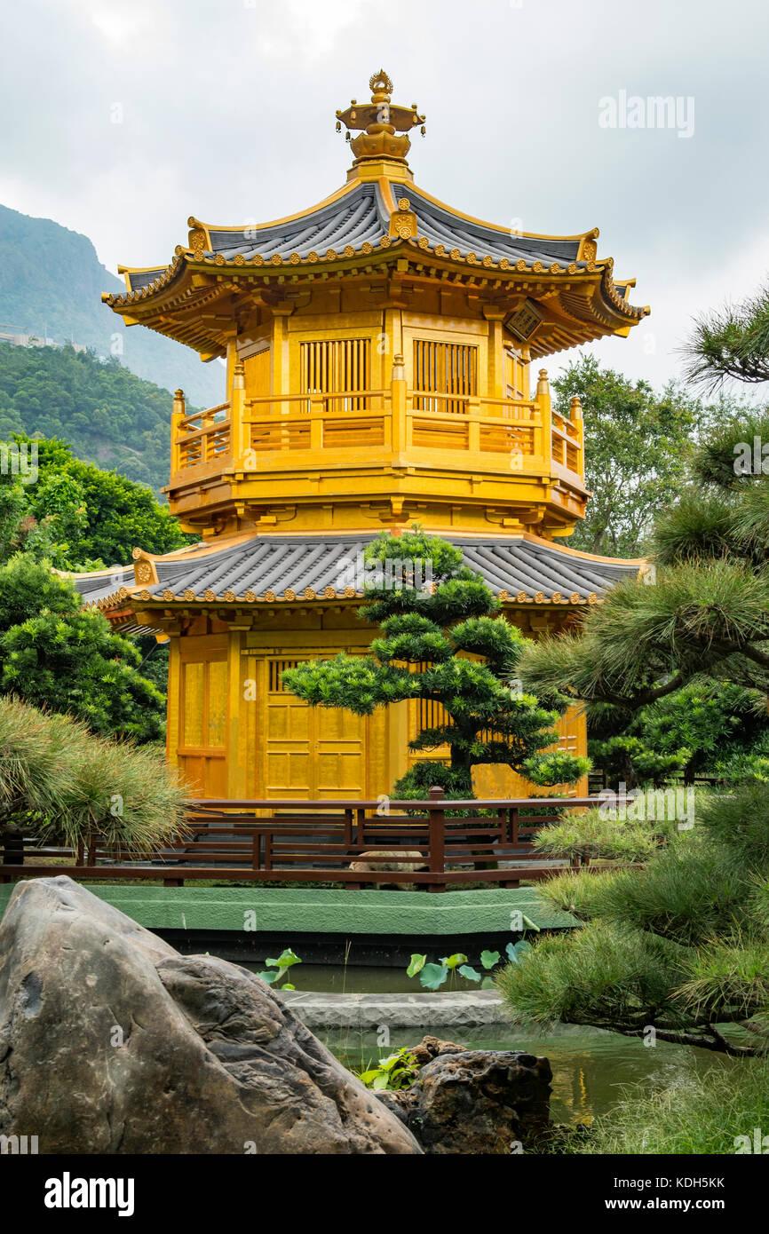 Pabellón de la perfección absoluta, Jardín Nan Lian, Kowloon, Hong Kong, China Imagen De Stock
