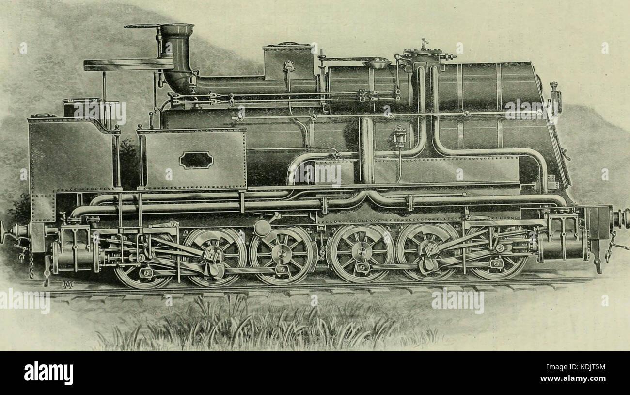 Ingeniería locomotora una práctica oficial de potencia motriz ferroviaria y el material rodante (1898) (14780959813) Foto de stock