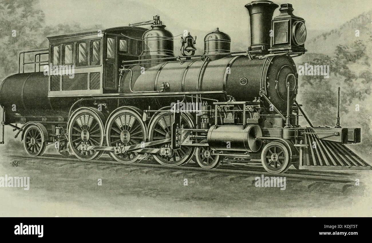 Ingeniería locomotora una práctica oficial de potencia motriz ferroviaria y el material rodante (1898) (14761259085) Foto de stock