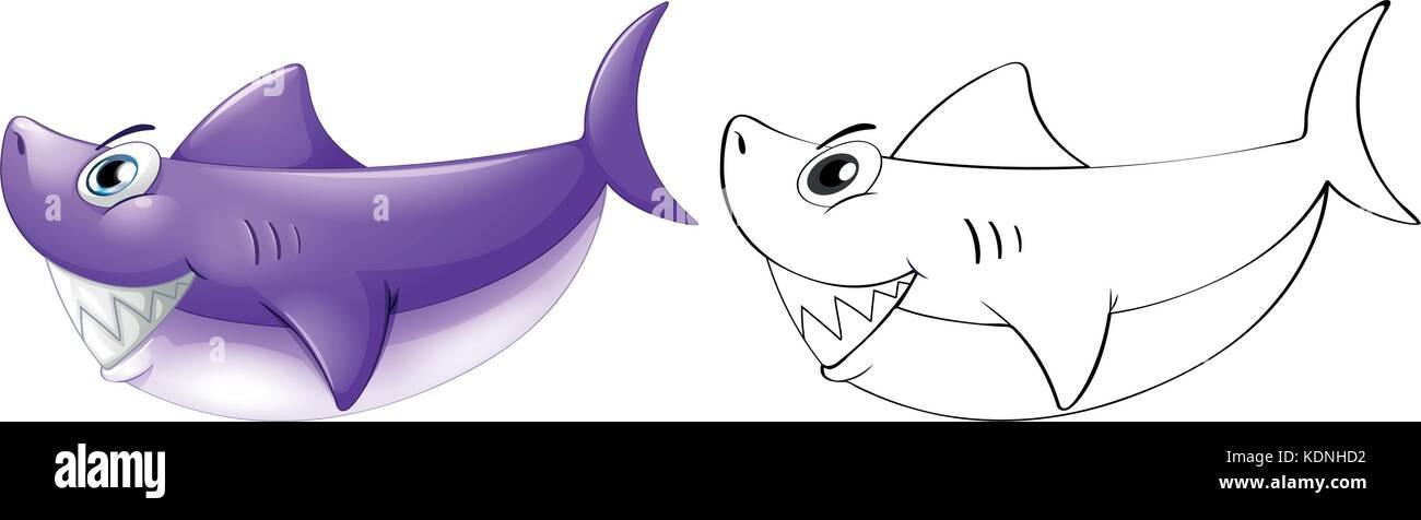 Shark Drawing Imágenes De Stock & Shark Drawing Fotos De Stock ...