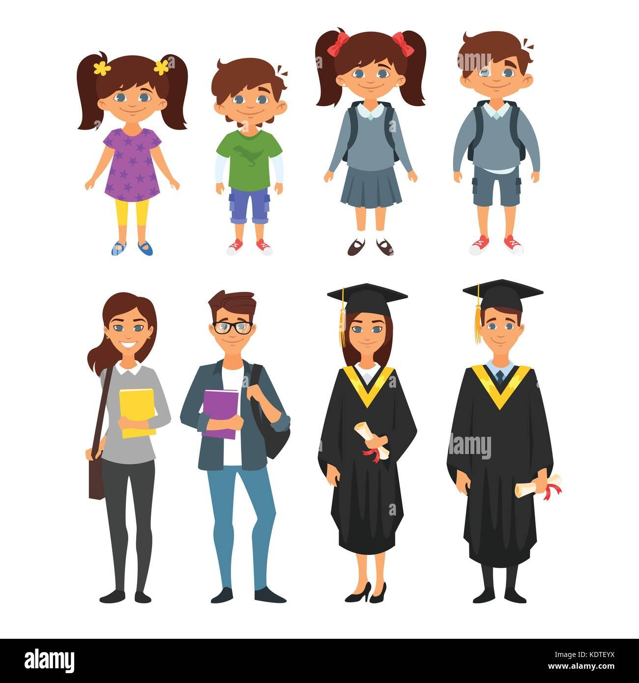Juego Del Estilo De Dibujos Animados De Vectores De Educación
