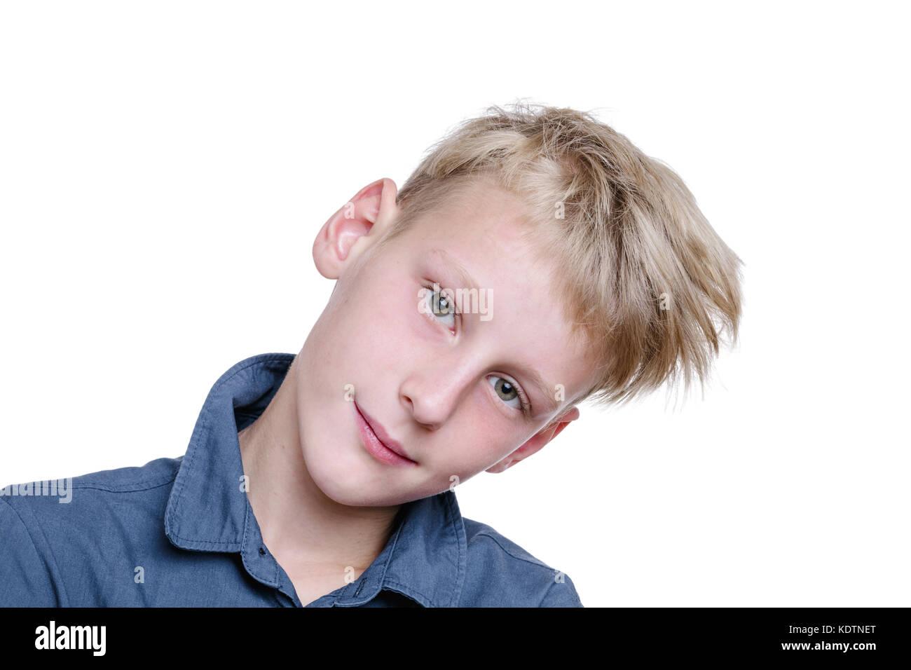 Feliz de 10 años de edad Imagen De Stock