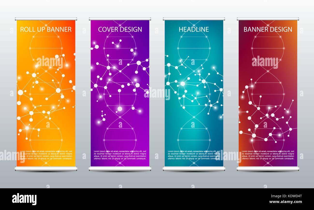 Roll up Banner abstracto para presentación y publicación. ciencia ...