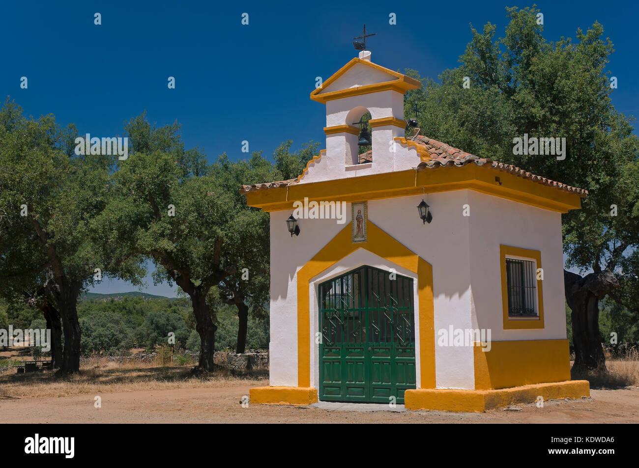 Área recreativa 'dehesa tres encinas' - Ermita de San Roque, cala, Huelva provincia, región opf Imagen De Stock