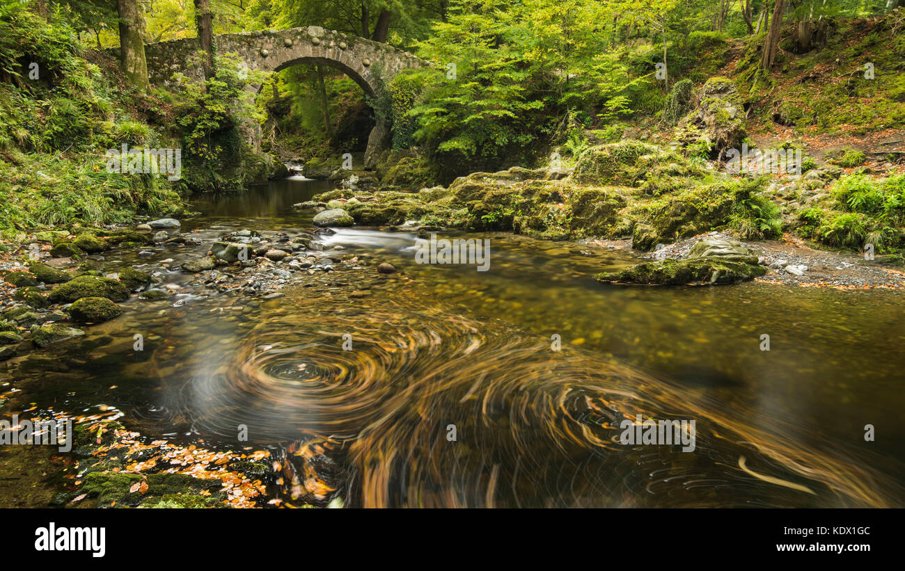 Puente foleys, tollymore Foto de stock