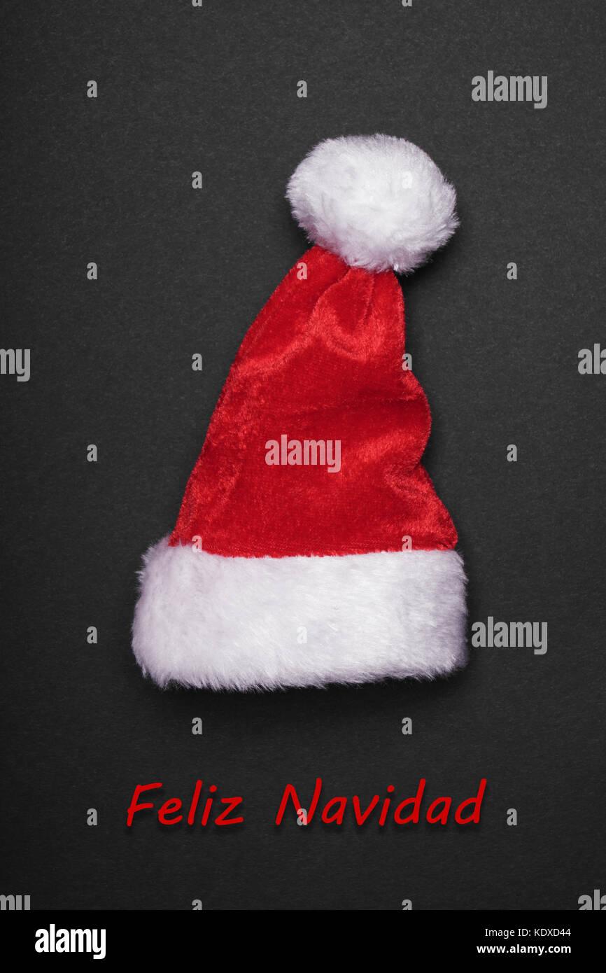 Feliz navidad tarjeta de felicitación de Navidad español Imagen De Stock