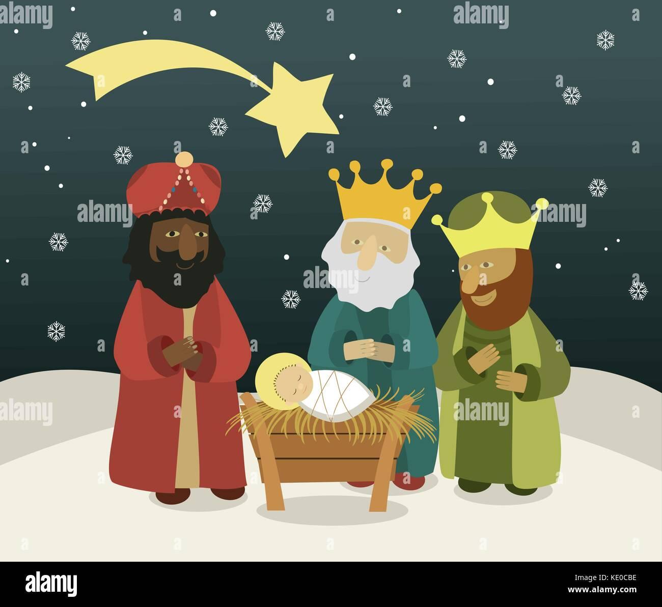 Magnífico Hombres Sabios Para Colorear Viñeta - Enmarcado Para ...