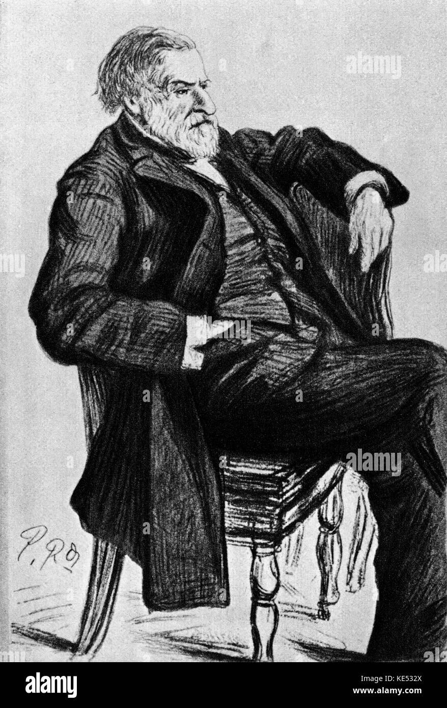 Ambroise Thomas Dibujo El Compositor Francés El 5 De Agosto De