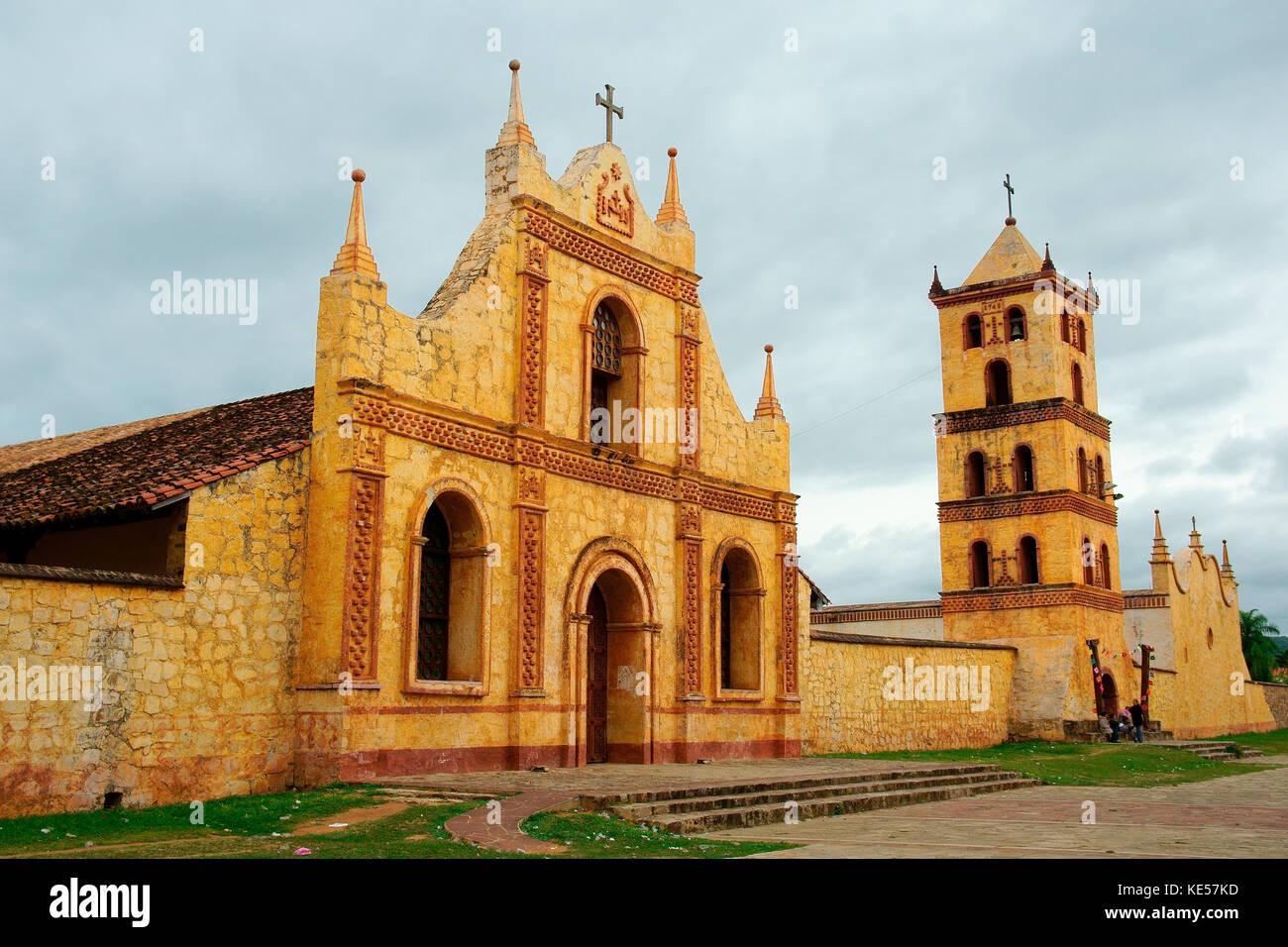 Misión Jesuítica, reducción jesuítica, san José de Chiquitos, Santa Cruz, Bolivia Imagen De Stock