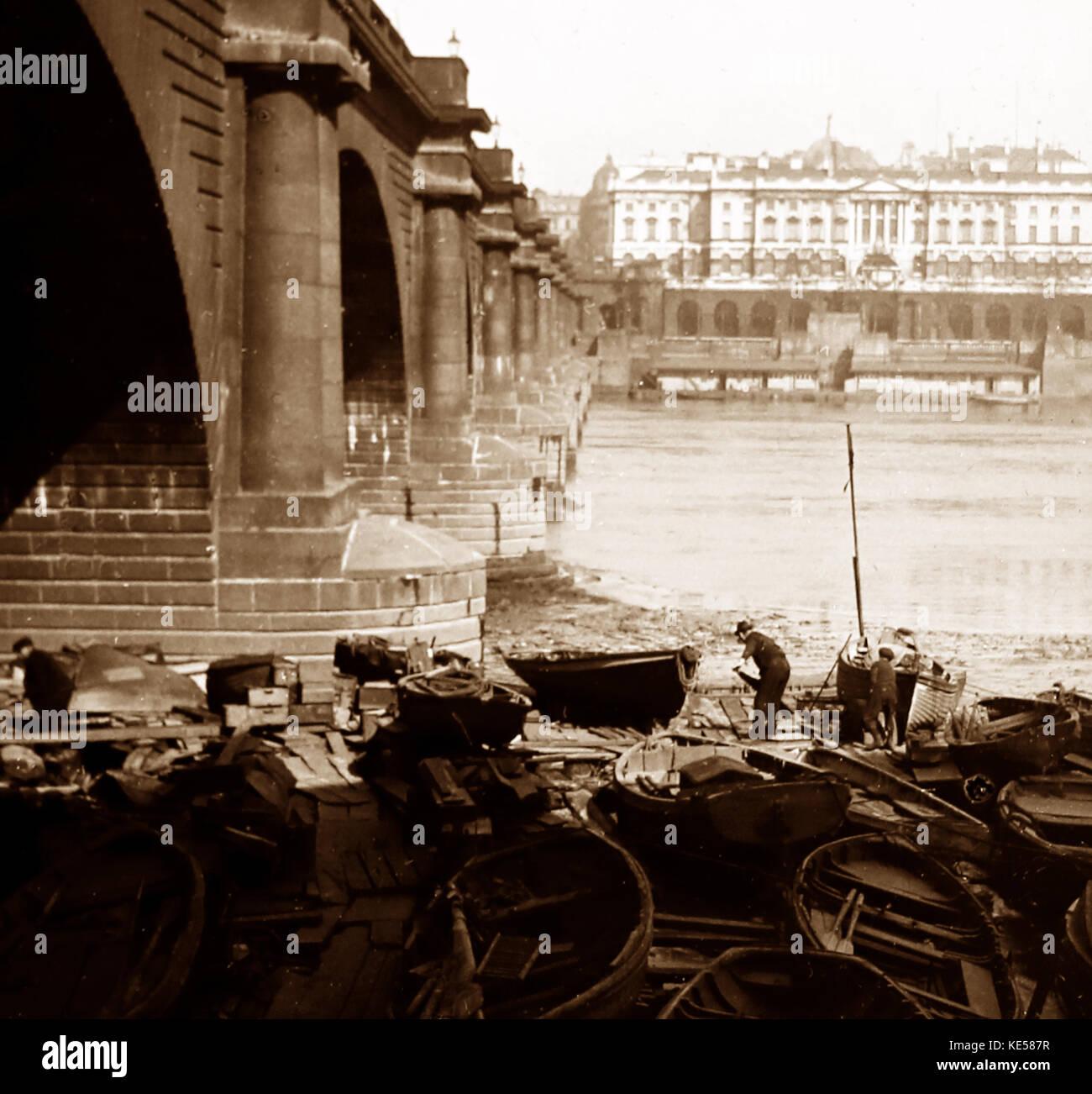 Waterloo Bridge, Londres, 1900 Imagen De Stock