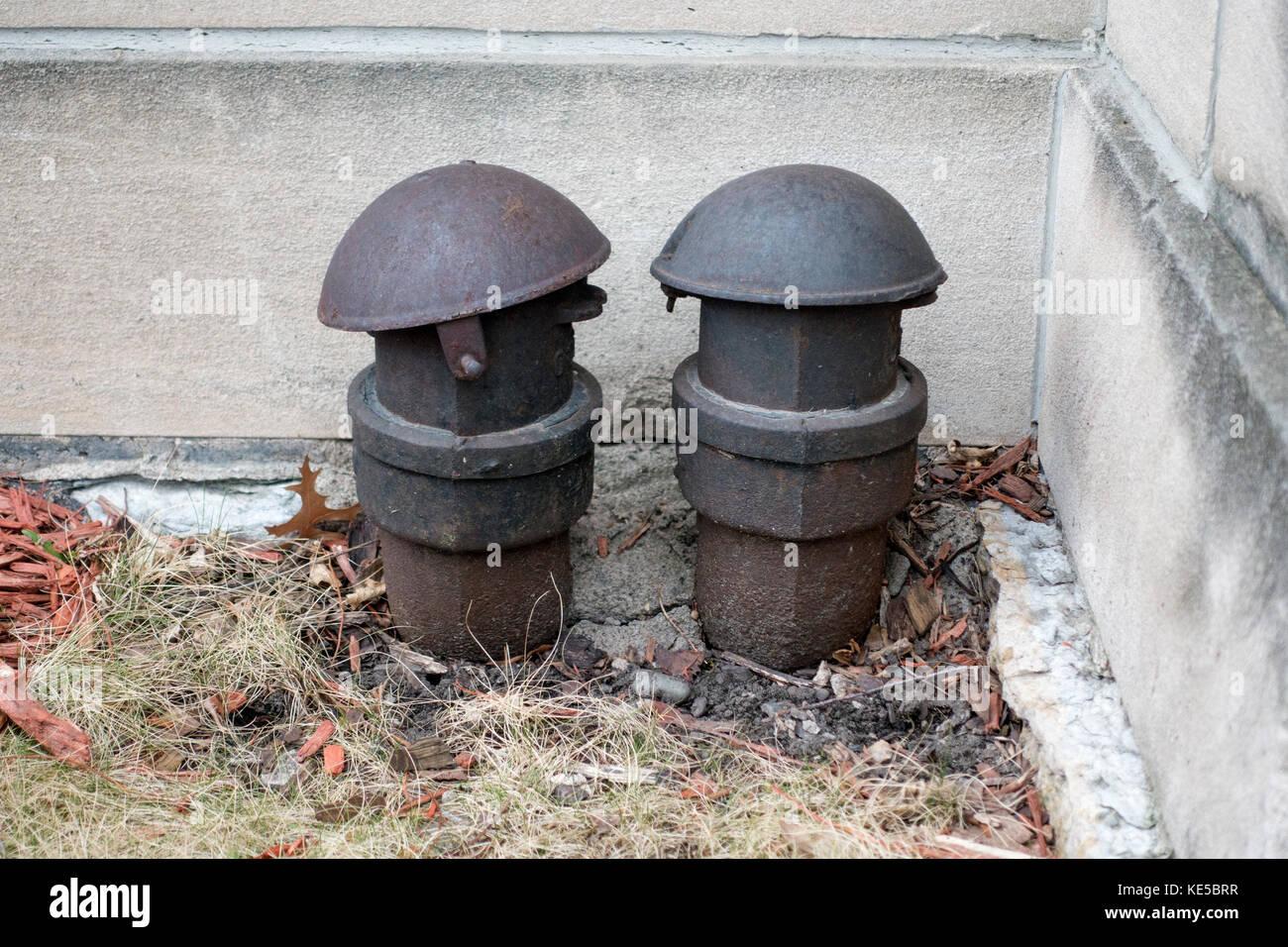 La punta del sombrero y una buena mañana a mi pareja embedded junto a mí. St Paul MN Minnesota ee.uu. Imagen De Stock