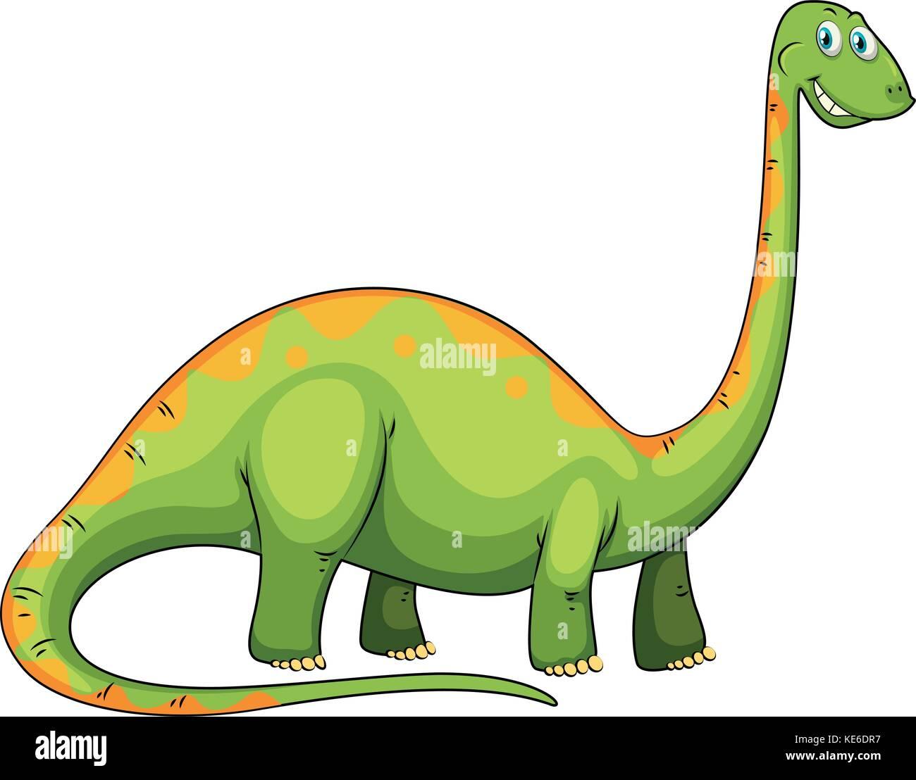 Dinosaurio Verde Con Cuello Largo Ilustracion Imagen Vector De Stock Alamy Tenía cuello y cola muy largos, cabeza pequeña, cuerpo robusto y patas gruesas se lo considera el dinosaurio más primitivo y completo de la sección inferior del triásico superior (215 millones de. https www alamy es foto dinosaurio verde con cuello largo ilustracion 163641051 html