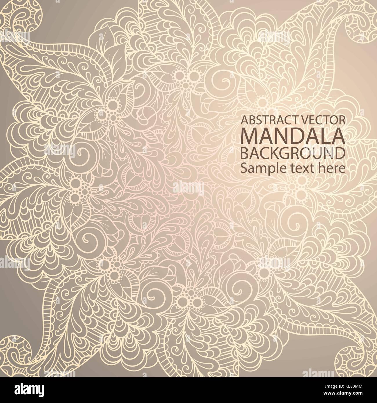 Mandala simple línea delgada elegante fondo. vectores ornamentales ...