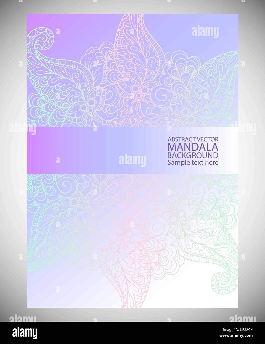 Mandala Simple Línea Delgada Elegante Fondo Vectores