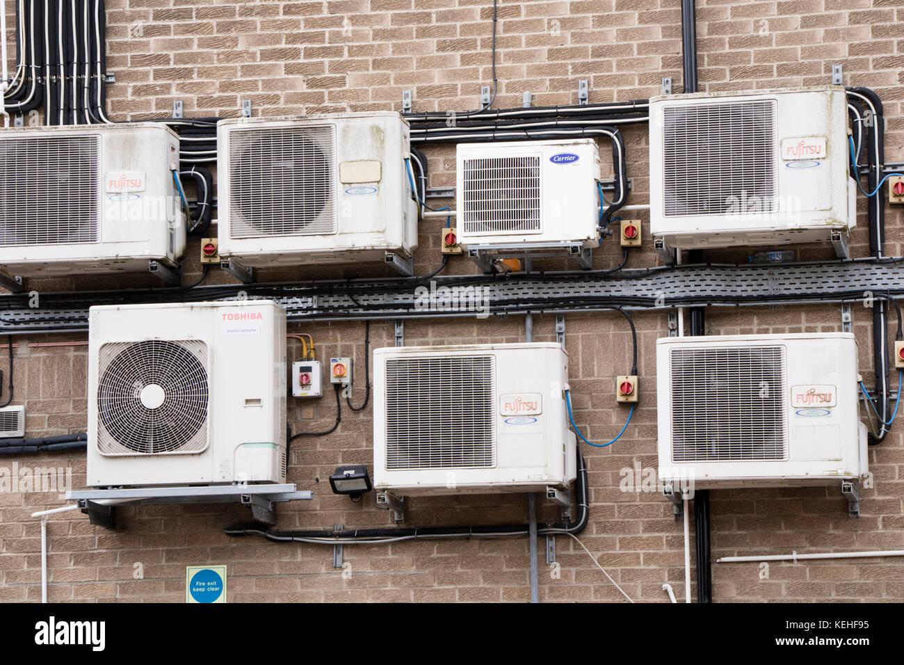 Los sistemas de aire acondicionado. Imagen De Stock