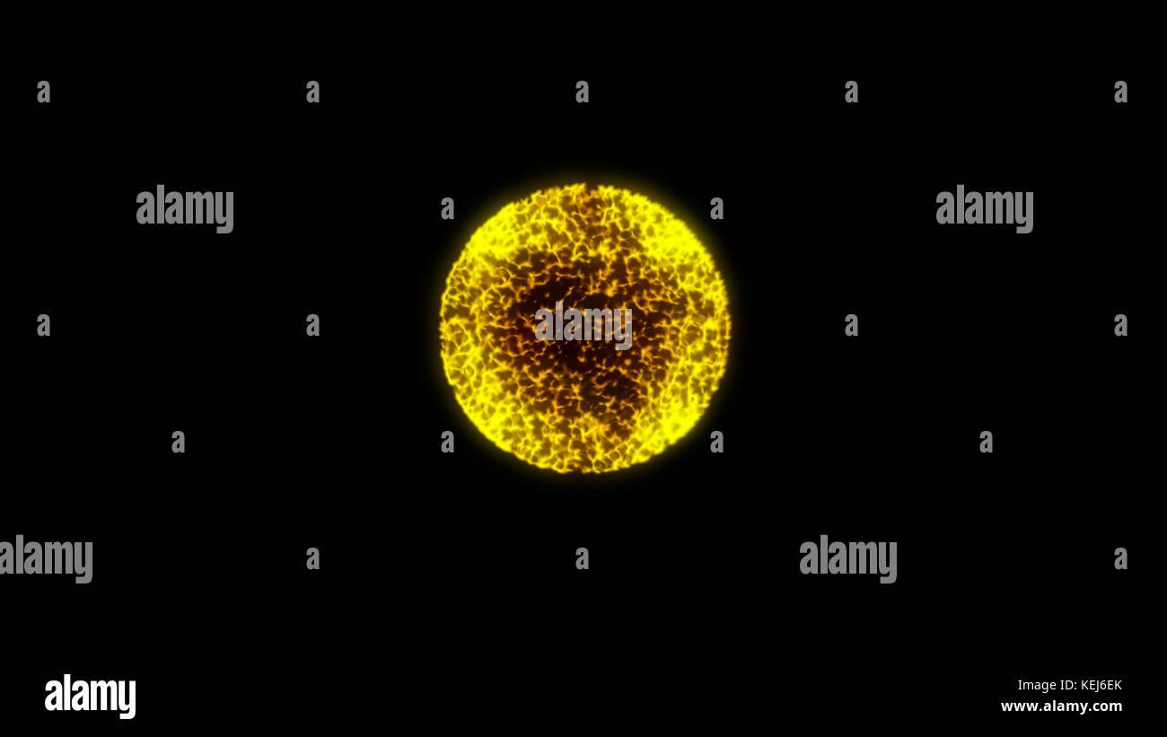 Abstract glow esfera ilustración digital. Foto de stock