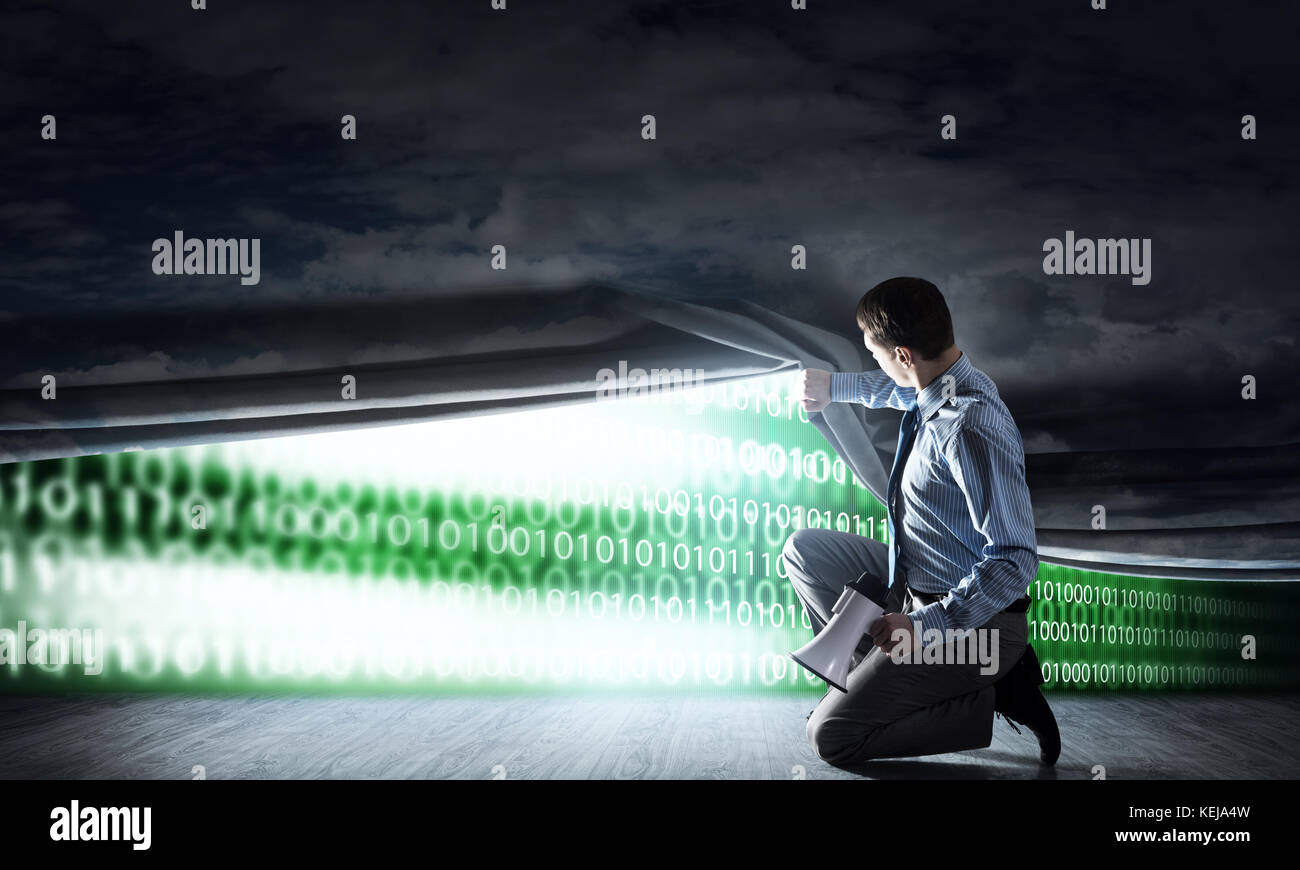 Concepto de código binario Imagen De Stock