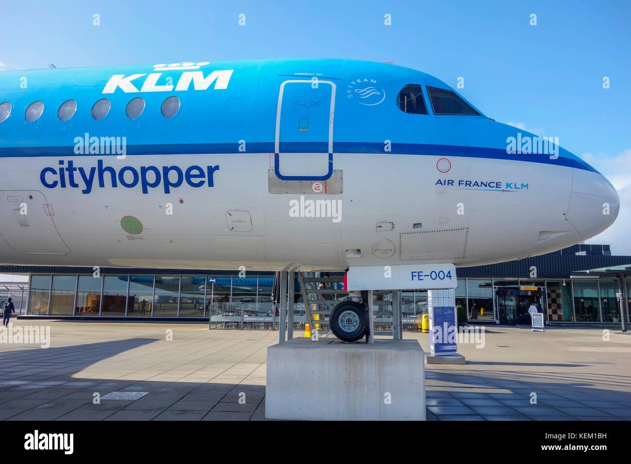 Aviones De Klm En El Techo De La Terraza Panorámica En El