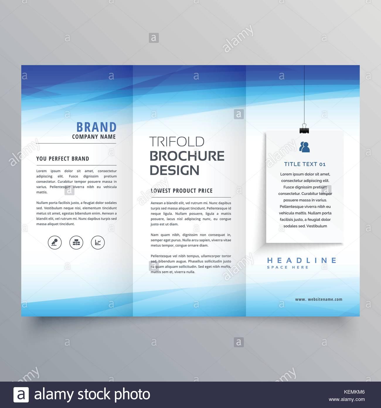 Plantilla de diseño de folleto triple elegante Ilustración del ...