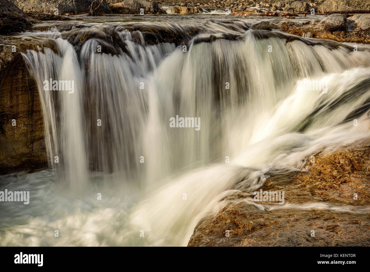 Codo Falls, Bragg Creek, Alberta Foto de stock